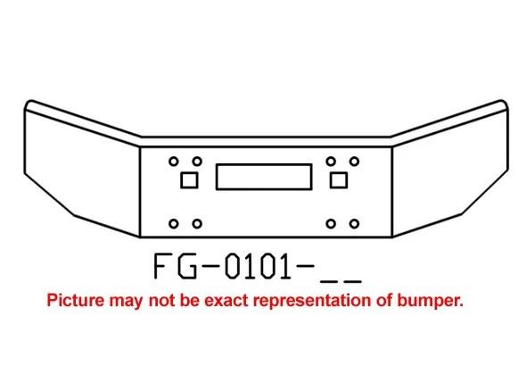 V-FG-0101-26 Aftermarket, Fits Kenworth T800 Bumper, 14