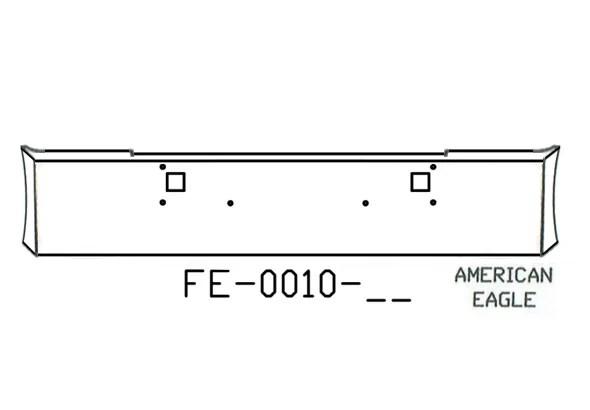 V-FE-0010-58 Aftermarket, Fits Kenworth W900L W900B Bumper