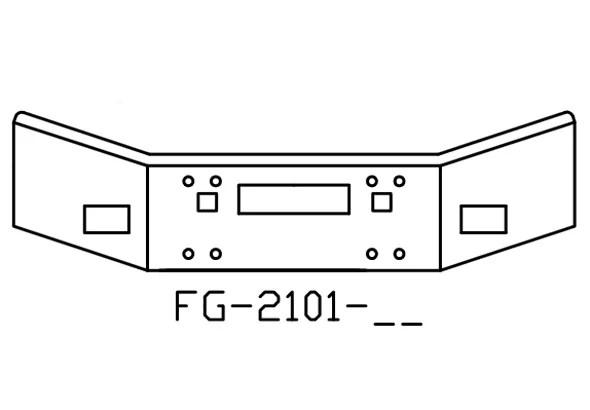 V-FG-2101-26 Aftermarket, Fits Kenworth T800 Bumper, 14