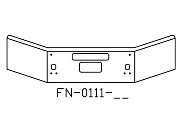 V-FN-0111-26 Aftermarket, Fits Kenworth T800B T880 Bumper
