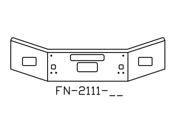V-FN-2111-26 Aftermarket, Fits Kenworth T800 Bumper, 14