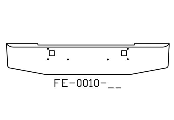 V-FE-0010-06 Aftermarket, Fits Kenworth W900L W900B Bumper