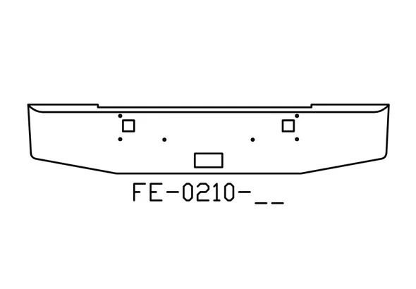 V-FE-0210-02 Aftermarket, Fits Kenworth W900L W900B Bumper