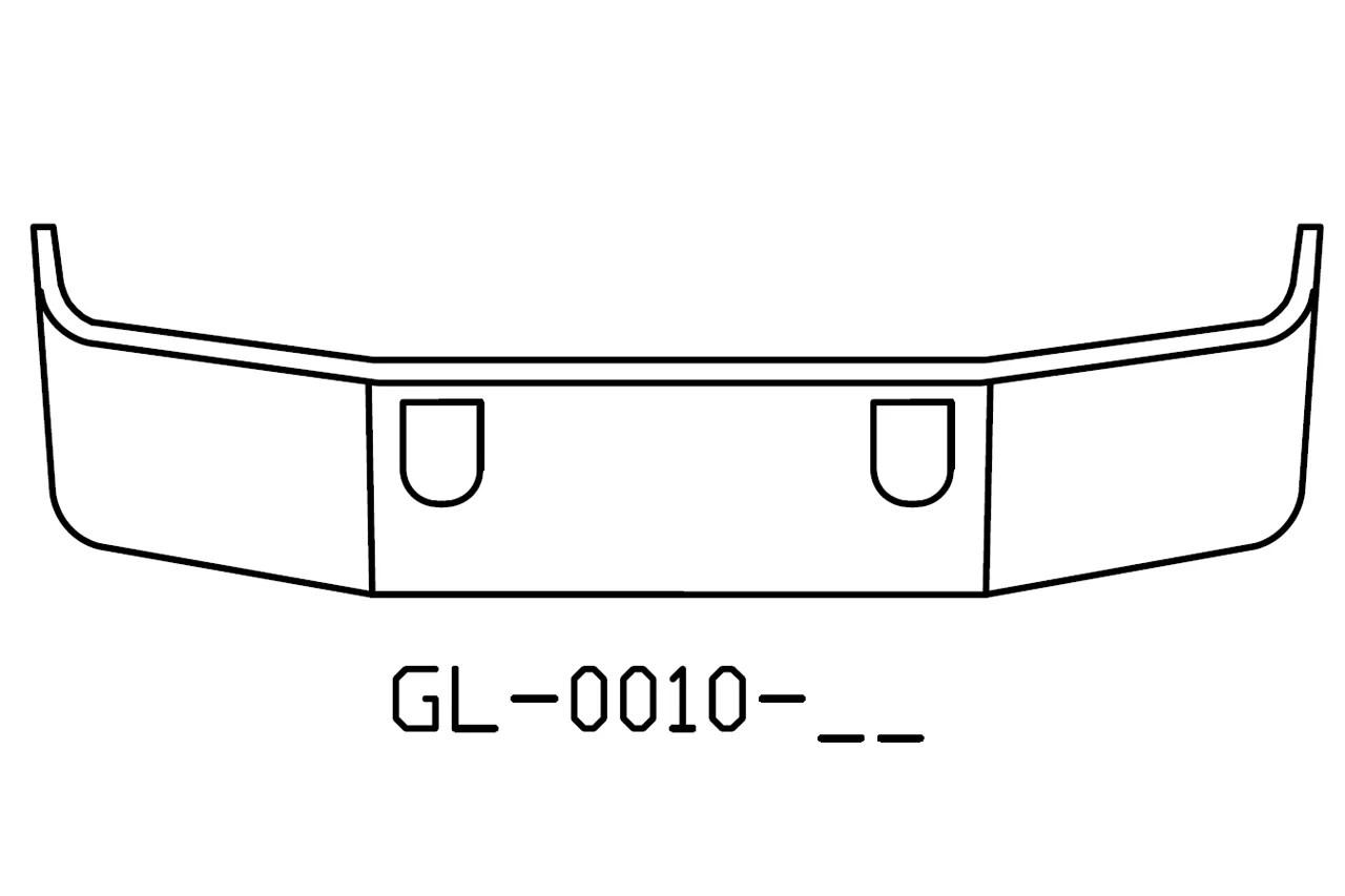 "V-GL-0010-17 Aftermarket, Fits Mack CH613 SBA 18"" chrome"