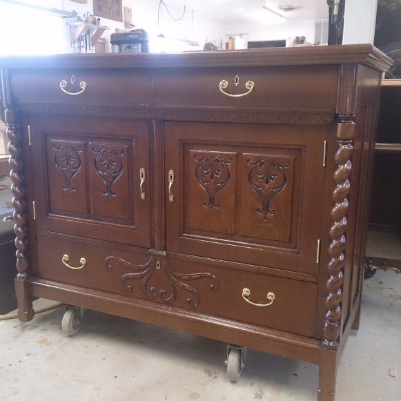 Refinished Antique Sideboard