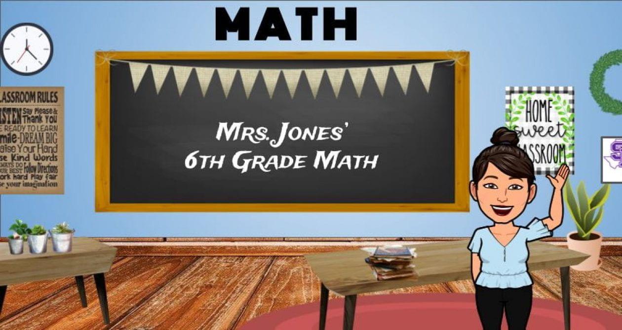 hight resolution of Mrs. Jones' Classes   6th Grade Math