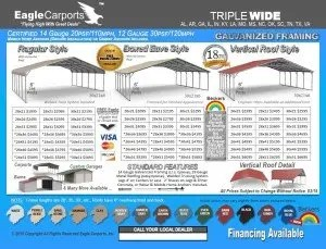 Triple Wide Carports