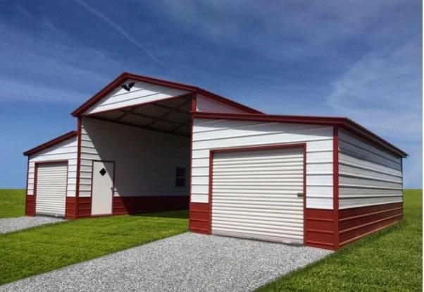 Metal Building Double Garage Barn Jones Portable Building