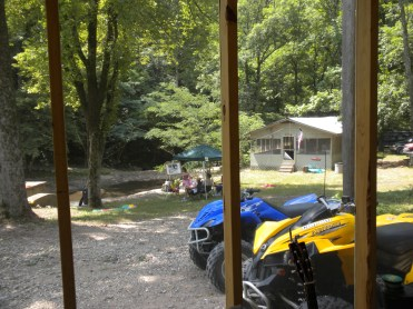 Cubage Cabin - Dining Hall View From Porch