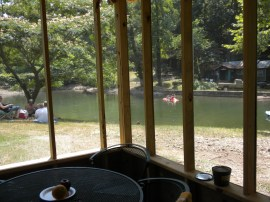 Cubage Cabin - Swimming Hole View