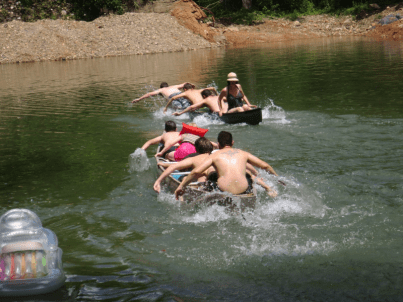 2017JUL4 canoe race 1