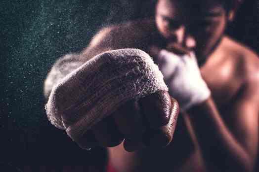Boxer focused