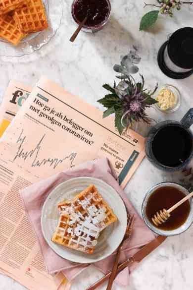 waffle newspaper stocks graphs degiro