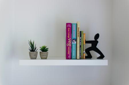 empty bookshelf ereader kindle