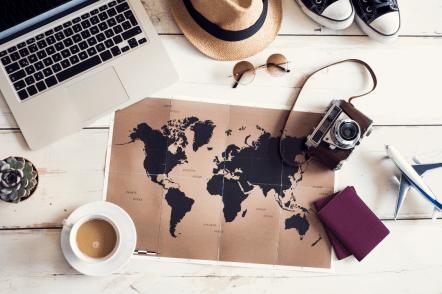 Travel Hacking - world map