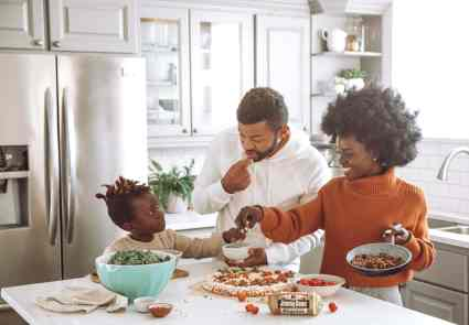 Family food cooking save money experience