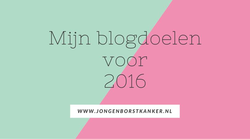 Mijn blogdoelen voor 2016 (1)