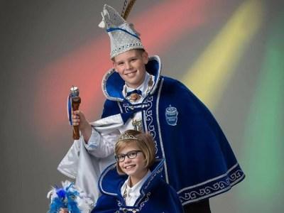 Jeugdprins Niels II en jeugdprinses Inge I