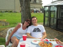 Star Wars shirt! And cousin Sue