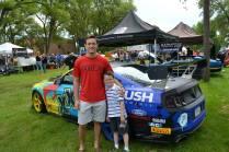 Brendan and I at a car show