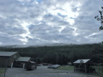 Sky over our camp in the Forks for white water rafting