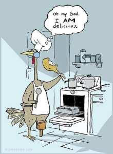 THANKSGIVING TURKEY EAT HIS OWN SELF