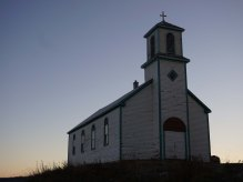 The Old Church in Tsiigehtchic. Holy Name of Mary