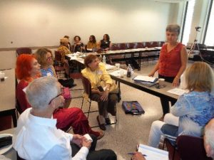 Facilitating break-out with Psychologists Coalition at the United Nations
