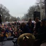 View from the stage of Women's March Philly