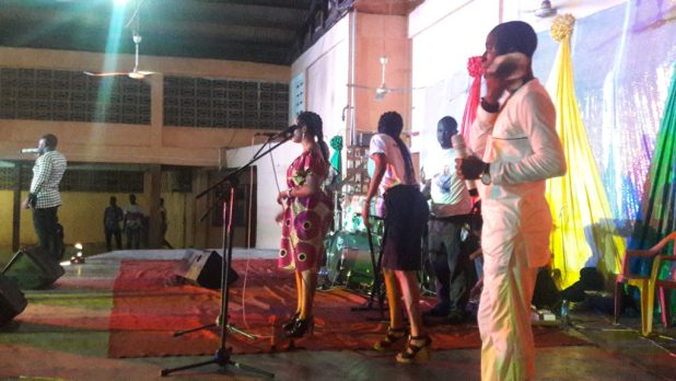 Minister Bendoza during is performance,last Sunday