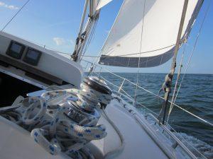 sailing sideways