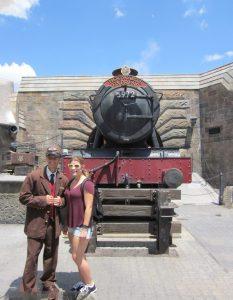 Elizabeth and the Hogwarts Express.