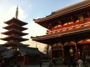 Sunset at Sensō-ji temple