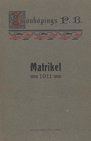 JPB Matrikel 1911