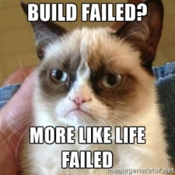 Build Failed - Grumpy cat