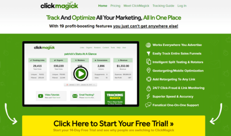 Marketing toolbox - ClickMagick