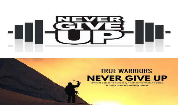 Never Give Up On Yourself – Because You Could Be Right At the Door Knocking At Success