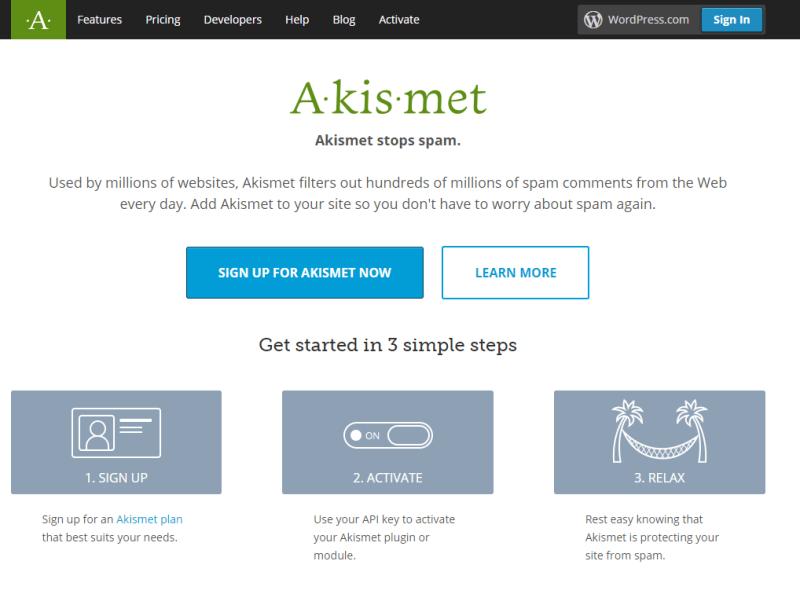 Plugins For WordPress - akismet