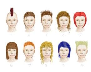 Female Hair Variations