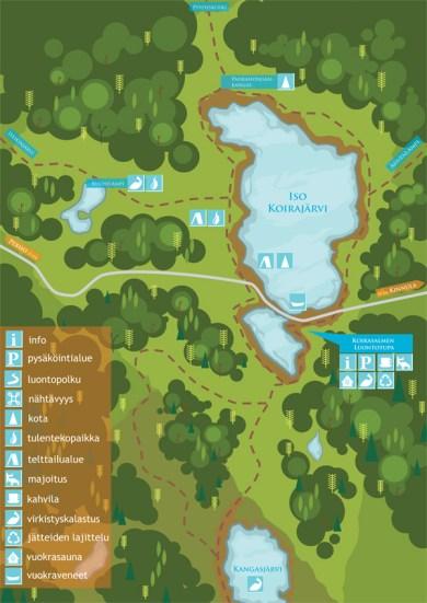 Map for National Park. Illustrator CS3