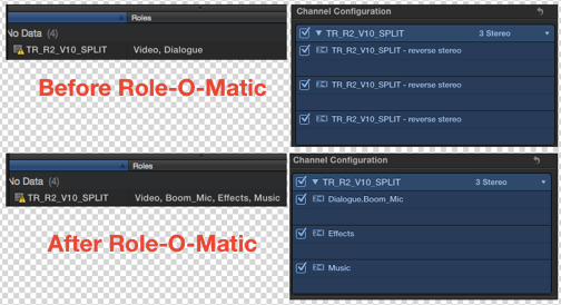 setting multichannel audio roles in FCPX