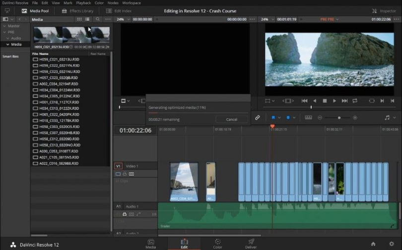 Editing in Resolve 12 for first time