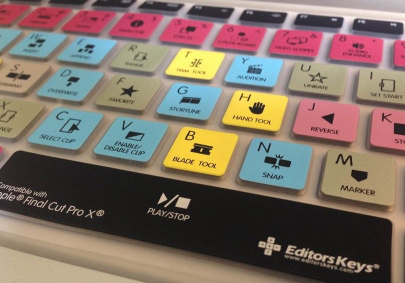 FCPX editing keyboards