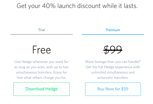 launch discount hedge for mac
