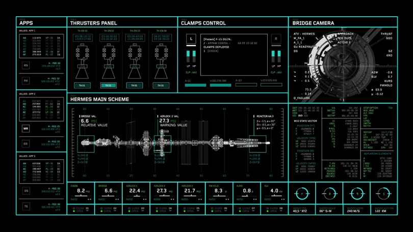The Martian On screen graphics