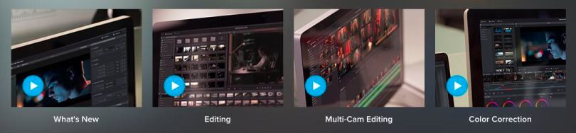 Videos on New Features in Resolve