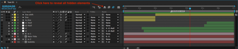 breaking down a professional after effects template