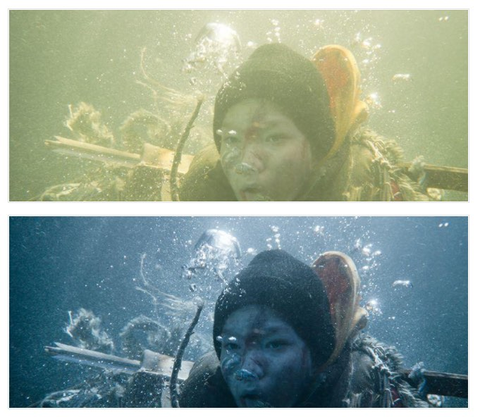 grading underwater footage