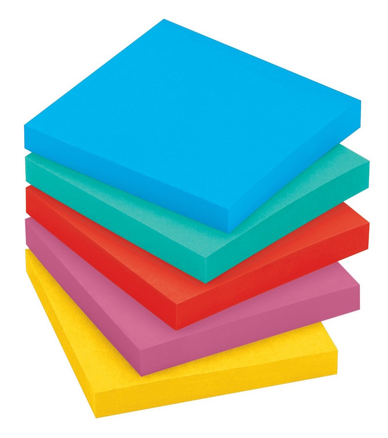coloured post it notes