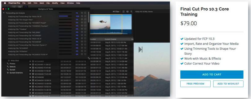 FCPX 10.3 Training Videos
